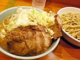 ラーメン二郎 八王子野猿街道店2:小つけブタ・ニンニク