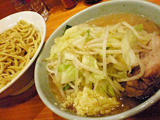 ラーメン二郎 八王子野猿街道店2:小つけ麺・ニンニク