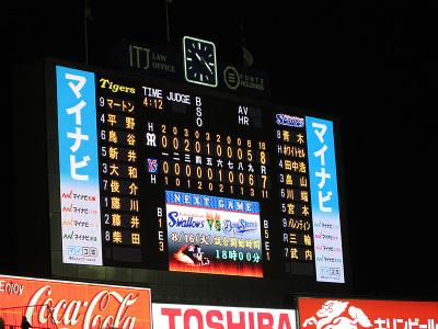 ヤクルト7-8阪神