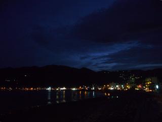 宇佐美海岸の夜景