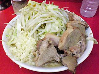 ラーメン二郎 桜台駅前店:小豚(麺固め)・ニンニク・ヤサイ・カラメ