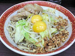 ラーメン二郎 横浜関内店:小汁なし・ニンニク・ヤサイ・カラメ