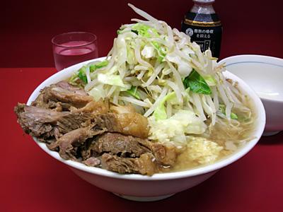 ラーメン二郎 西台駅前店:小豚(麺かため)・ニンニク・ヤサイ