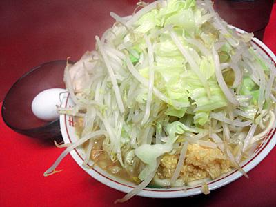 ラーメン二郎 仙台店:小豚(麺かため)・ニンニク多め・ヤサイ